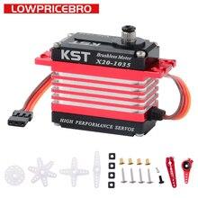 KST X20 1035 Metall Getriebe Digital 12KG 0.03sec HV Bürstenlosen Schwanz Servo Motor für UAV RC Auto Roboter Arm Hubschrauber flugzeug Teile