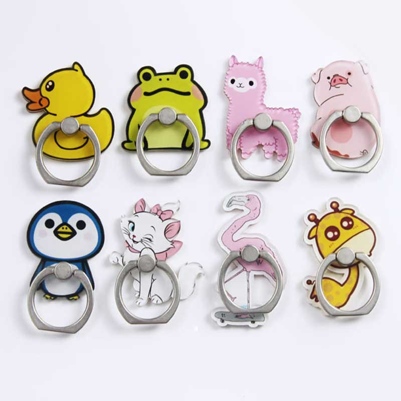 New Arrival Mobile Phone Holder Metal Finger Ring Holder Cute Duck & Frog Animals  Phone Ring Holder Phone Stand Support