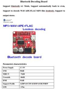 Image 2 - 10PCS Bluetooth Audio Empfänger bord Bluetooth 4,1 mp3 verlustfreie decoder board Wireless Stereo Musik Modul