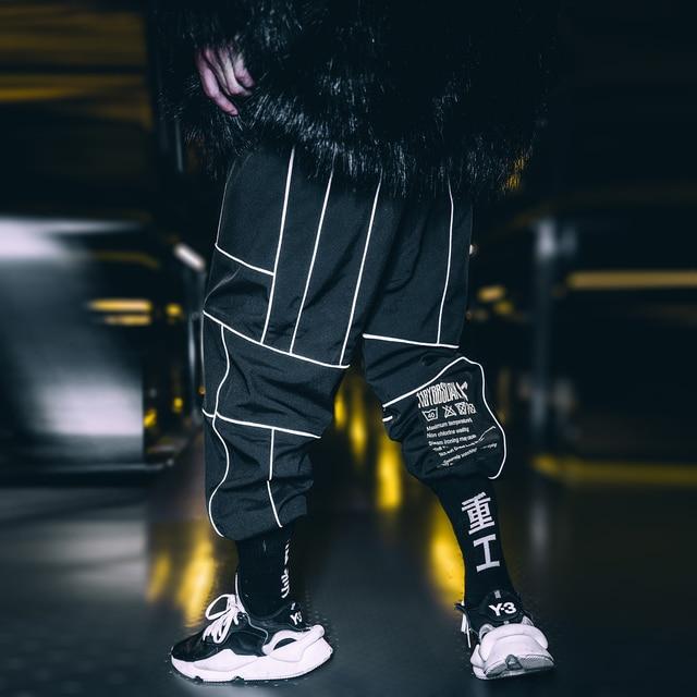 Harajuku Pant Joggers Hip Hop Reflective Japanese pants Streetwear Thin Sweatpant Trousers 29
