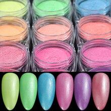 1 Box Pearl Shell Shimmer Chrome Nail Glitter Powder Neon Du