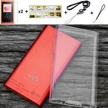 Мягкий прозрачный защитный чехол из ТПУ для Sony Walkman NW A50 A55 A56 A57 A55HN A56HN A57HN, с защитной пленкой и ремешком