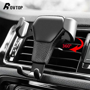 Image 1 - Support universel de voiture pour téléphone portable dans le support de montage dévent de voiture support pour téléphone Mobile pour iPhone 11 6 6s Plus support de cellule de Smartphone de gravité