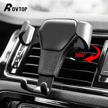 Suporte universal de carro para celulares, apoio para saída de ar para iphone 11 6 6s plus suporte da célula do smartphone da gravidade
