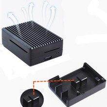 цена на New Raspberry Pi 4 Aluminum Alloy Case Enclosure Heat sink for Raspberry Pi 4 Model B