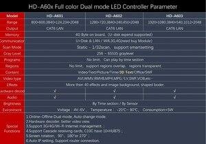 Image 5 - Huidu HD A601 HD A602 HD A603 מלא צבע סנכרון סינכרוני כפול מצב LED תצוגת נגן עם S108 חיישן תיבה, 3G/4G/WiFi להוציא תמיכה