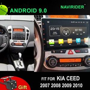 Radio samochodowe Android 9.0 dla kia ceed GPS ekran IPS odtwarzacz wideorejestrator w górę w dół lewego prawego dostosuj nawigację 2007 2008 2009 2010