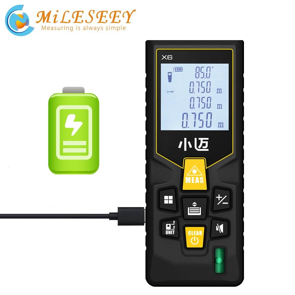 Mileseey X6 akumulator 40M 70M dalmierz laserowy dalmierz laserowy dalmierz miarka budowy urządzenie linijka test narzędzie