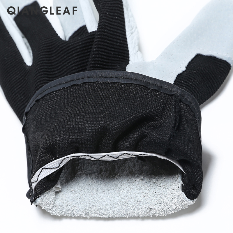 Image 4 - QIANGLEAF Hot Product Pigskin Leather Working Safety Glove Coat Leather Gardening Glove Mechanic Work Gloves 9530-in Safety Gloves from Security & Protection