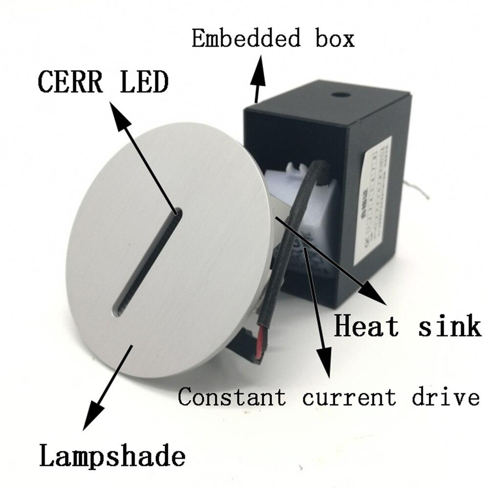 ac85 265v passo luz interior recesso escada lampada 03