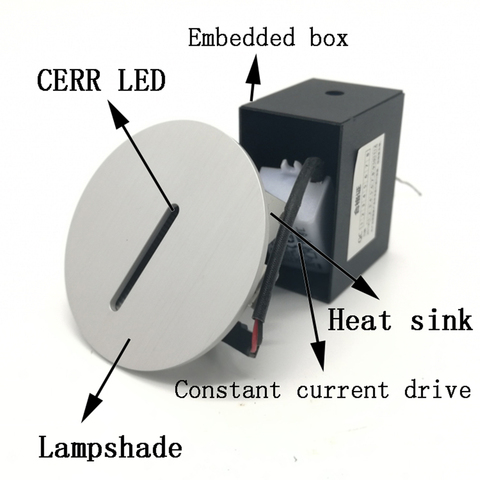 ac85 265v passo luz interior recesso escada lampada