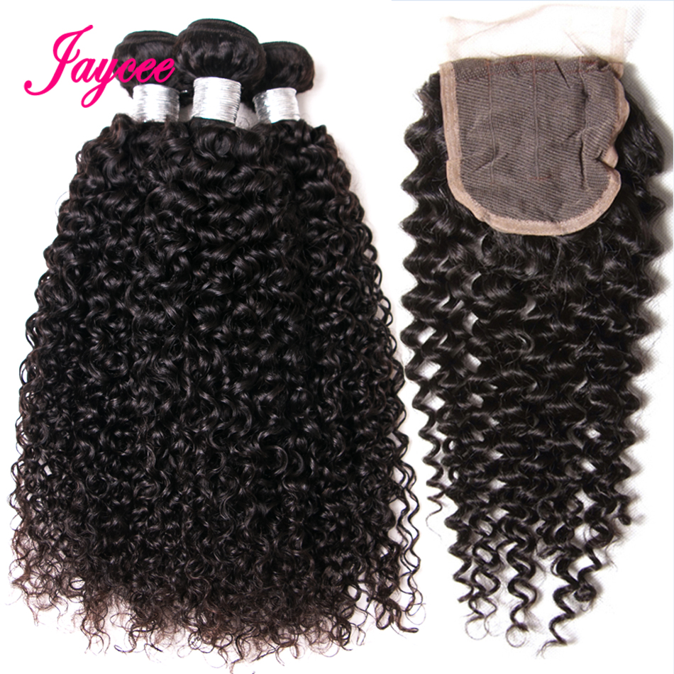 Jaycee Malaysian Curly Hair With Closure Remy Human Hair Weave 3 Bundles With Closure Malaysian Hair Bundles With Closure