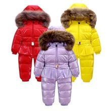 new 2019 Fashion Winter 90% Duck Down Jacket Kids Boys Outerwear & Coats, Wear Infant Overcoat , Romper Snowsuit