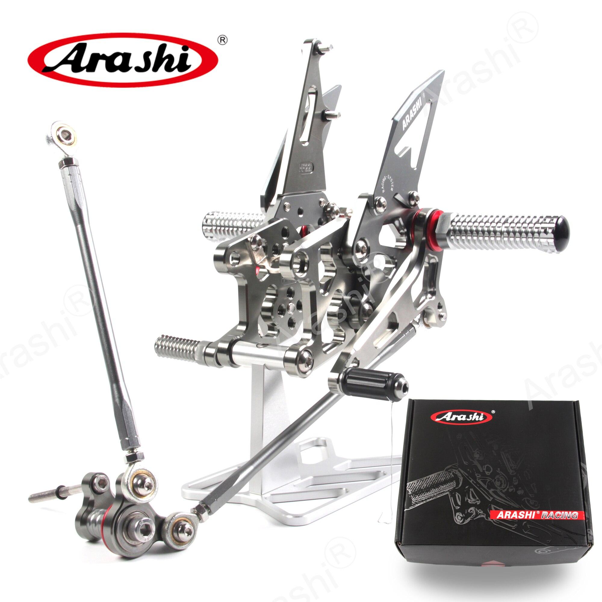 Arashi CBR600RR 2007-2008 CNC Rider Adjustable Footrest Foot Pegs For HONDA CBR 600 CBR600 RR 2007 2008 Rear Foot Rest Rearsets