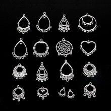 10pcs Tibetan Silver Color Metal Chandelier Connectors Beads