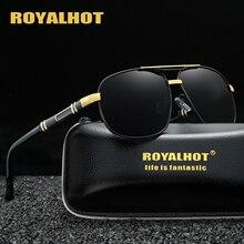 RoyalHot Polarized 2 Beams Sunglasses Men Women Aloly Frame Sun Glasses Driving Shades Oculos masculino Male 90082