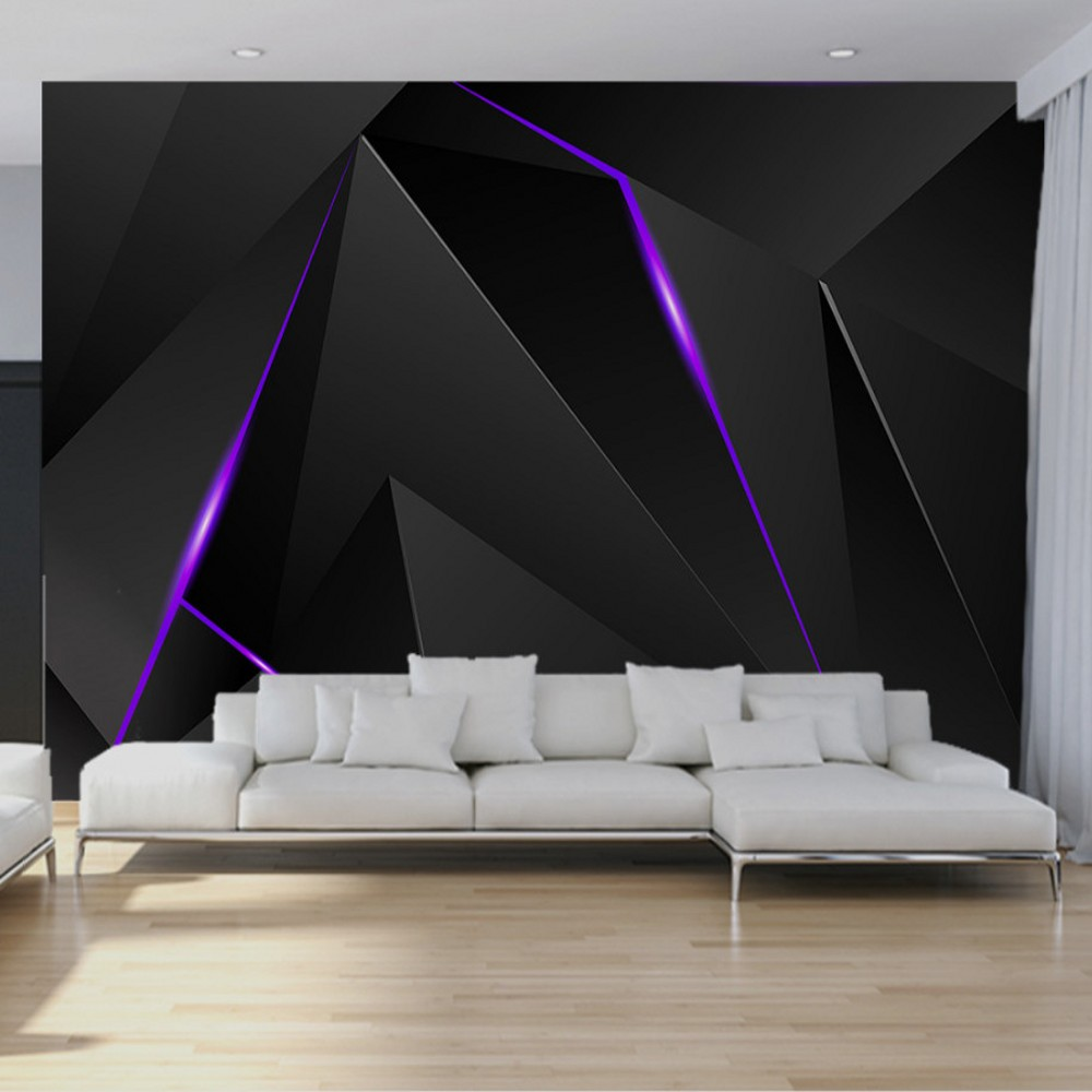 Drop Shipping Custom Modern Simple Fashion Irregular Technology Shape Graphic Living Room Backdrop Wallpaper 3d Mural Painting