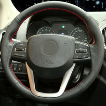 Free Shipping High Quality cowhide Top Layer Leather handmade Sewing Steering wheel covers protect For Dongfeng Aeolus AX7 AX5 free shipping high quality cowhide top layer leather handmade sewing steering wheel covers protect for dongfeng aeolus ax7 ax5
