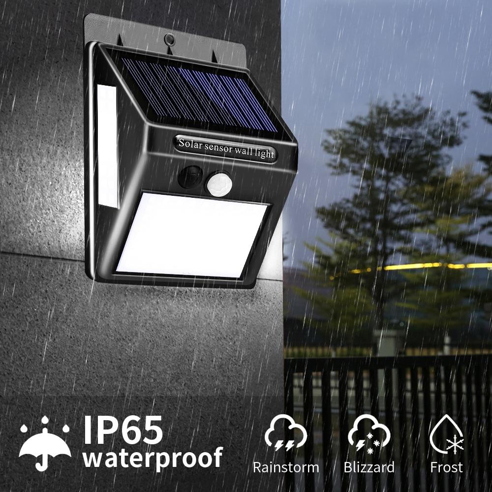 100 LED Solar Light Outdoor Solar Lamp PIR Motion Sensor Wall Light Waterproof Solar Powered Light For Garden Decor Street Light