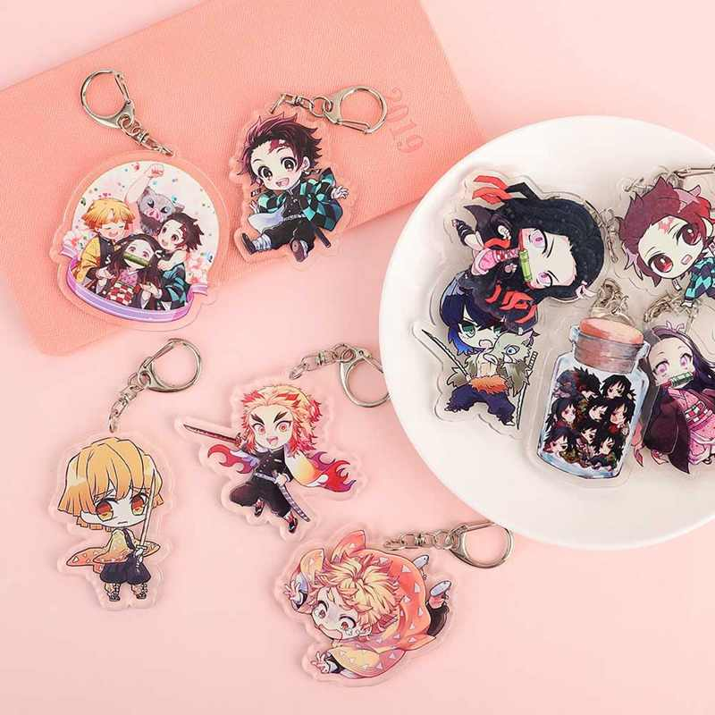 Anime Demon Slayer: Kimetsu no Yaiba Acrylic Keychain Keyring Cosplay Anime Gifts