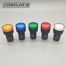 цена на 22mm AD16-22D/S LED Power Indicator Light General signal lamp AC/DC 12V 24V 36V 48V 110V 220V 380V Green Red Blue White Yellow