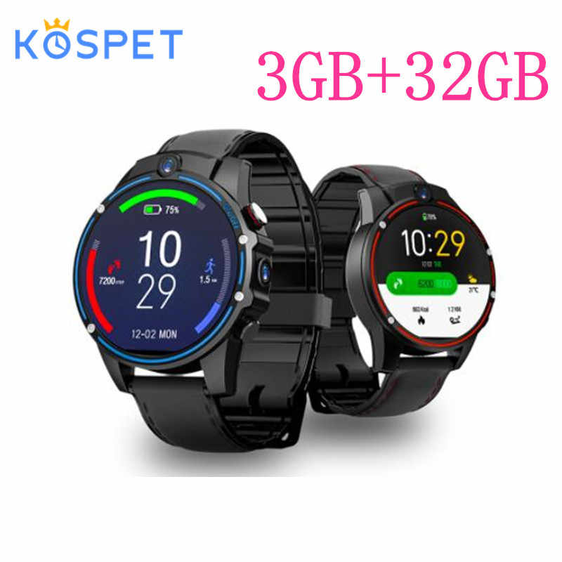 "KOSPET Vision 3 ГБ 32 ГБ 5.0MP двойная камера GPS Спорт Android Смарт часы 1,6 ""800 мАч Bluetooth Smartwatch для мужчин для IOS Android"