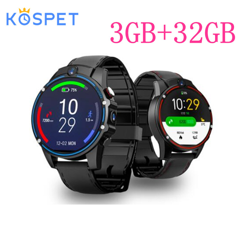 KOSPET Vision 3 ГБ 32 ГБ 5.0MP двойная камера GPS Спорт Android Смарт часы 1,6 800 мАч Bluetooth Smartwatch для мужчин для IOS Android