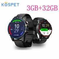 "KOSPET Vision 3GB 32GB 5.0MP double caméra GPS Sport Android montre intelligente 1.6 ""800 mAh Bluetooth Smartwatch hommes pour IOS Android"