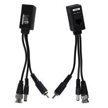1 пара 3 в 1 штекер BNC штекер RJ45 аудио-видео Мощность балун трансивер для камеры видеонаблюдения