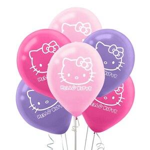 10pcs Hello Kitty Cat Latex Balloon Inflatable Cartoon Happy Birthday Party Wedding Decoration Kid Toys Inflatable Air Balloon(China)