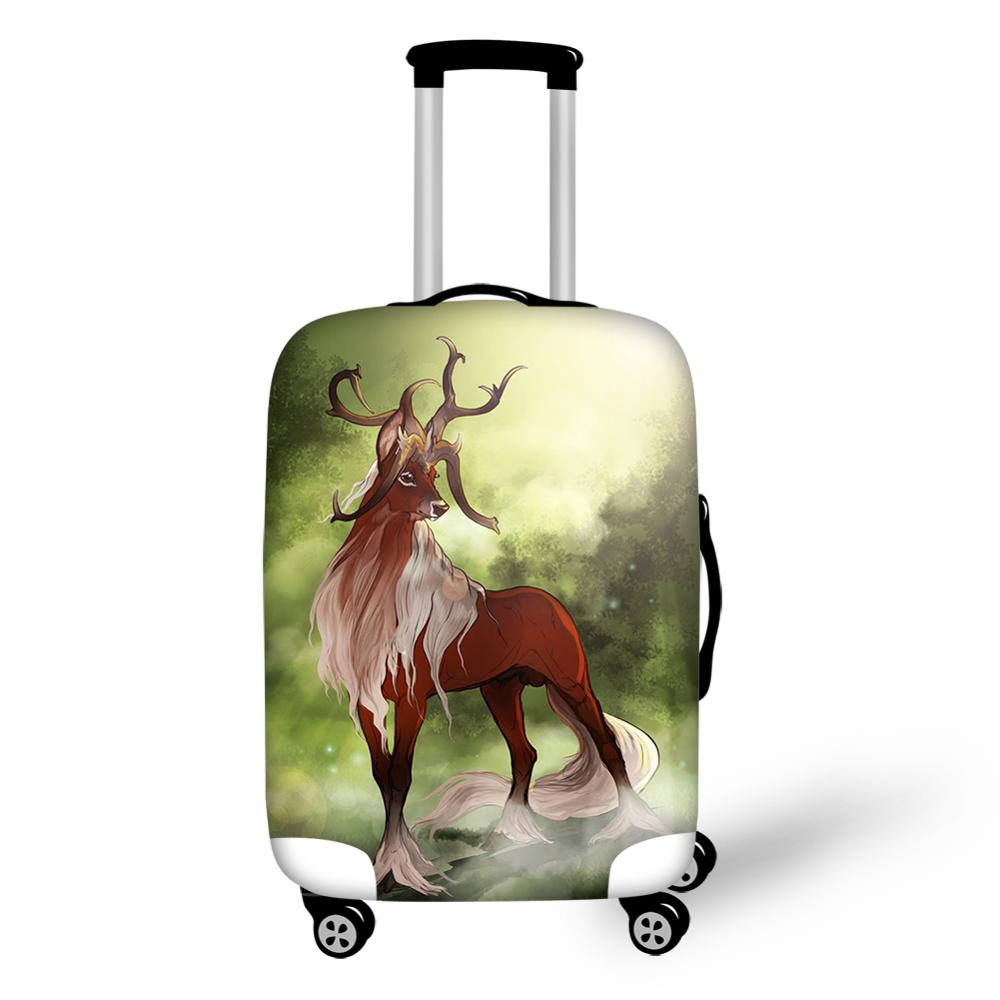 HaoYun Fashion Girls Water-proof Suitcase Cover Fantasy Deer Pattern Luggage Cover Kawaii Elastic Travel Luggage Protector