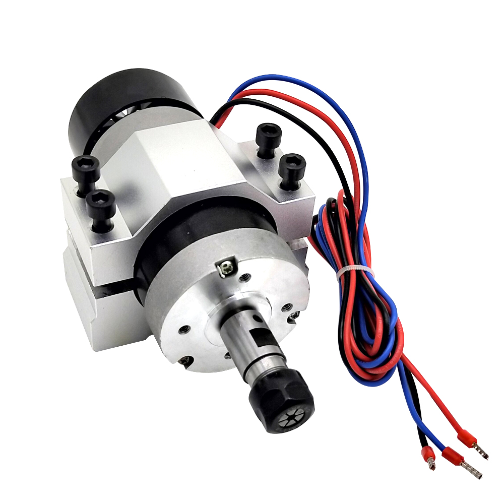 ER11 Brushless Spindle 400W DC Motor Air Machine Tool Spinlde With Stepper Motor Driver For Milling Engraver
