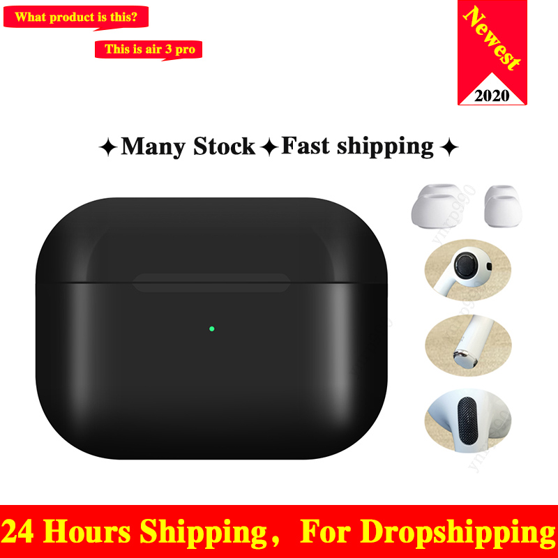 New Original Air 3 Tws Pro Arie 2 Wireless Bluetooth Headsets Headphones 1:1 Smart Sensor Blackpods Earbuds Touch For Elair Fone