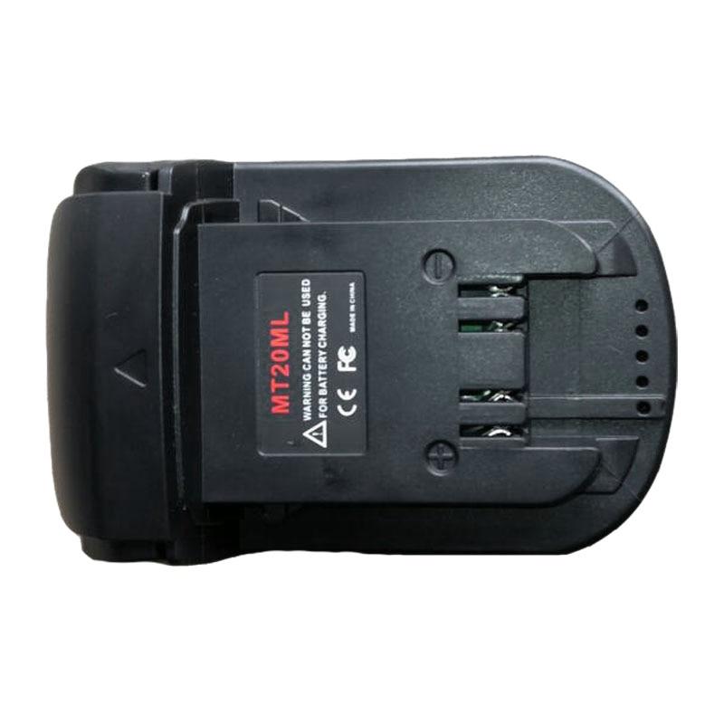 Mt20Ml Battery Converter Adapter For Makita 18V/20V Li-Ion Battery Bl1830 Bl1860 Bl1815 For Milwaukee M18 Li-Ion Battery