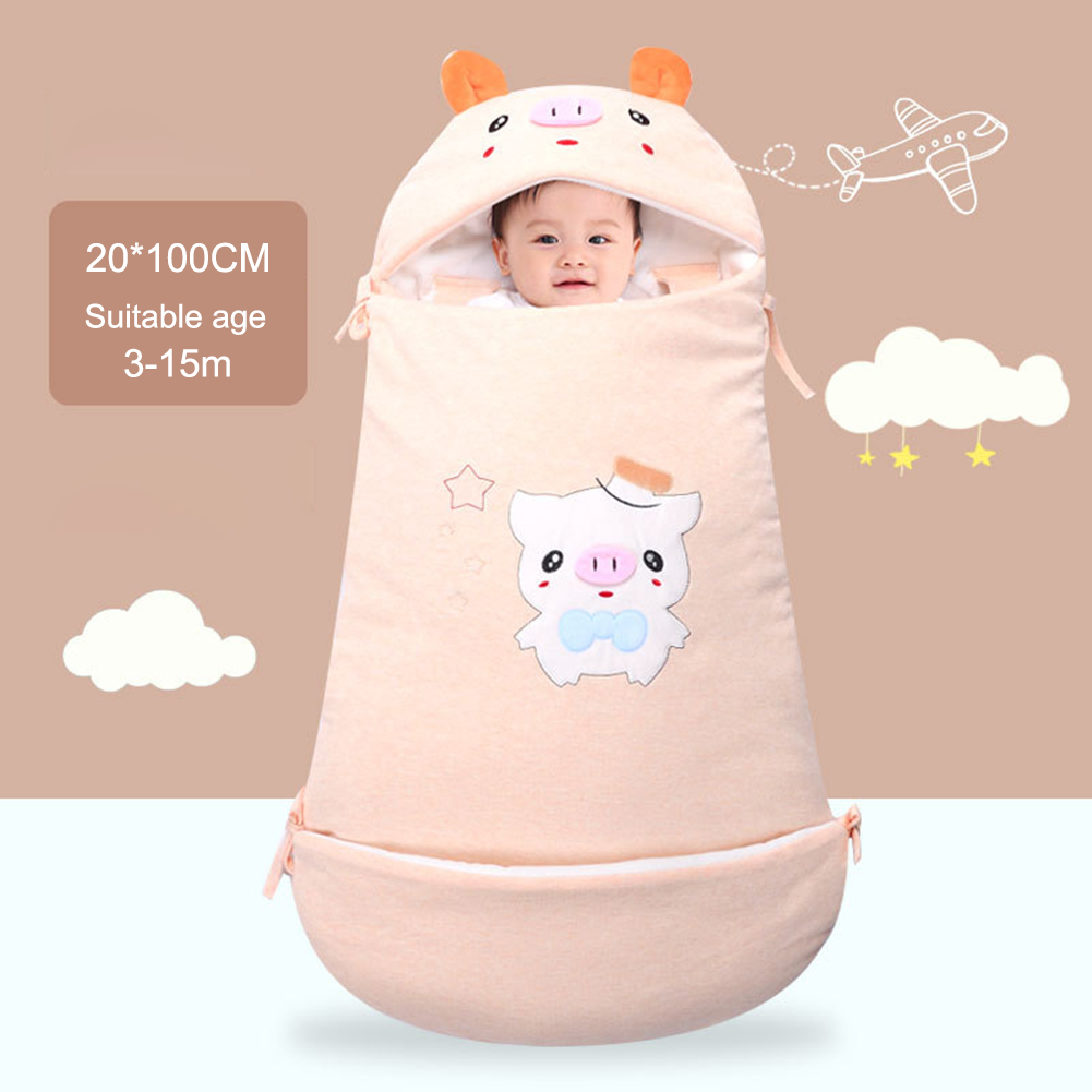 New Cartoon Pig Newborn Baby Thicken Sleeping Bag Stroller Envelop Bed Infant Wrapped Baby Winter Sleep Sacks Super