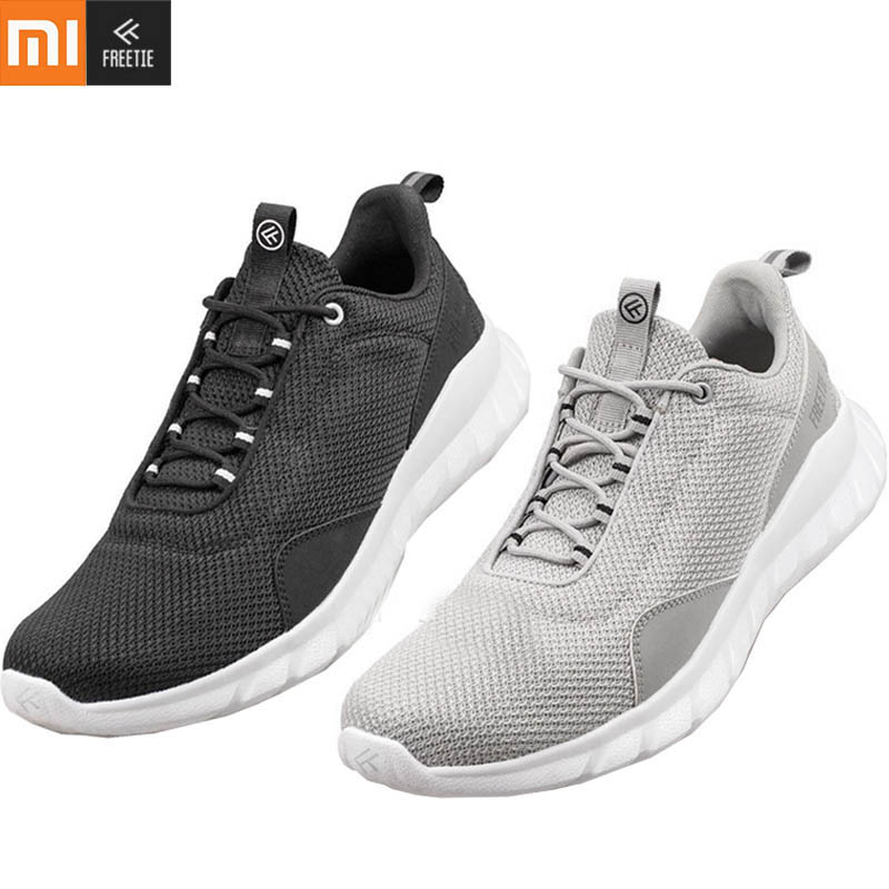 Original Xiaomi FREETIE Sport Shoes Lightweight Ventilate Elastic Knitting Shoes Breathable Refreshing Running Sneaker Shoes