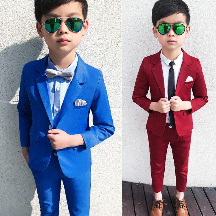 CHILDREN'S Business Suit BOY'S Dresses Of Bride Fellow Kids Piano Costume Children Korean-style Kids Suit Autumn