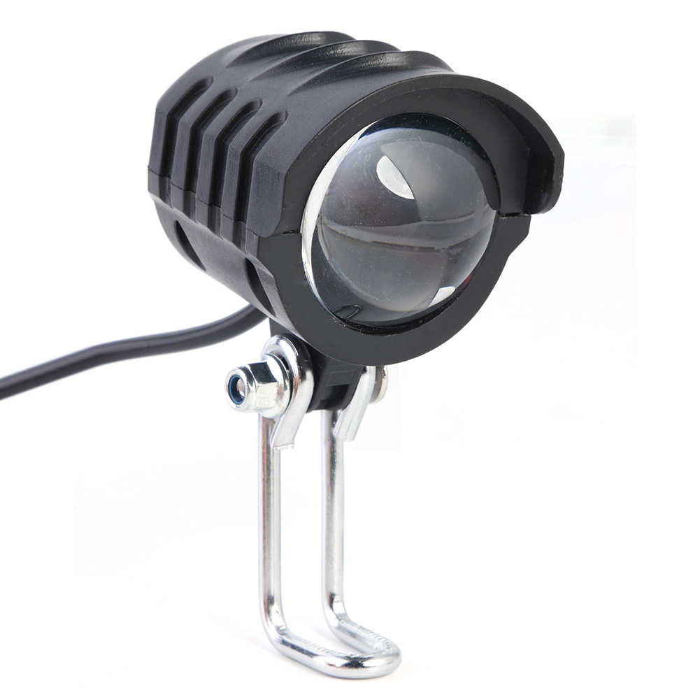 2 In 1 Headlight Front Light LED Lamp Horn For Electric Bicycle E-Bike Black