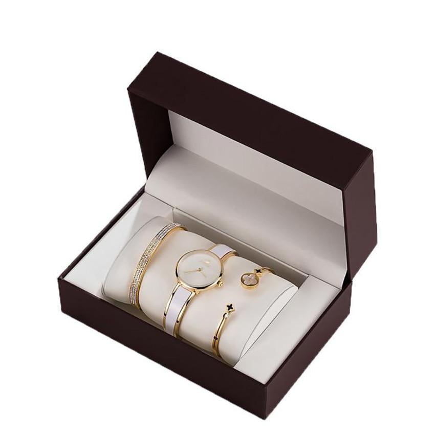 Luxury Brand Women Watches Set Fashion bracelet Party Ladies Watch Creative Design Bracelet Watch relogio feminino with box gift