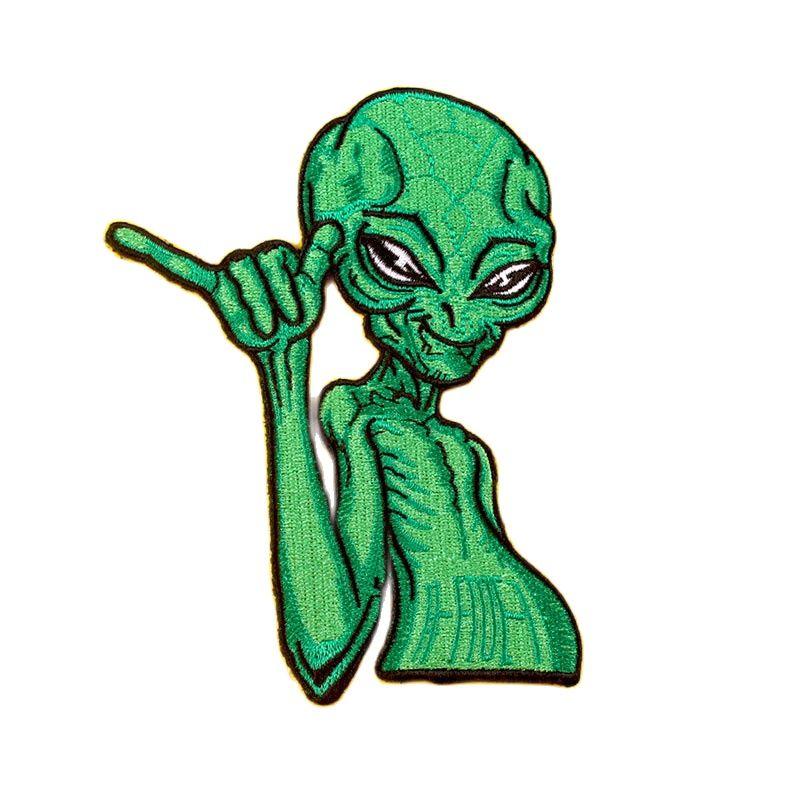 Schädel Patch Punk Pfad Eisen Auf Patches Auf Kleidung Alien Bestickt Patches Für Kleidung Van Gogh Katze Stcikers