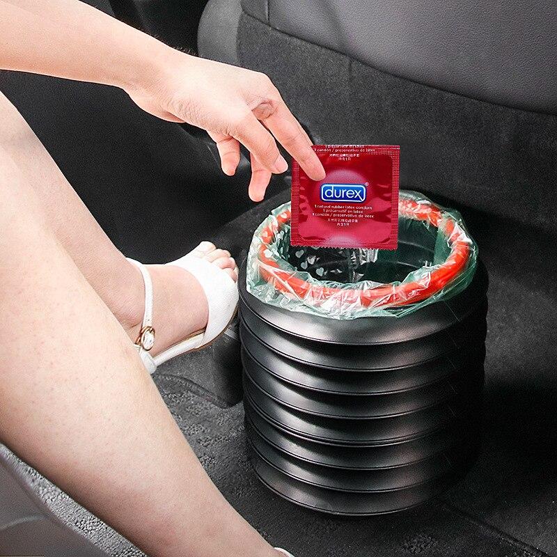 Auto Papierkorb Multifunktionale Versenkbare Auto Lagerung Bin Tragbare Outdoor Angeln Eimer Wasser Eimer Klapp Auto Mülleimer