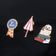 Creative Cartoon Badge Harry Potter Pins for Backpacks Cute Badge Gifts for Kids Kawaii Pins Badges for Clothes Metal Movie Pins(China)