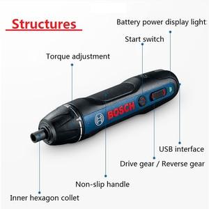Image 5 - Bosch Mini juego de destornillador eléctrico Go 2, destornillador automático recargable de 3,6 V, taladro manual, brocas para destornillador