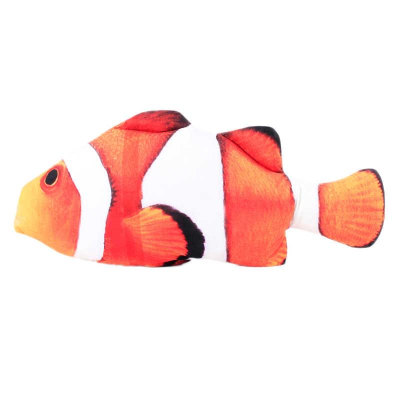 Artificiel drôle poisson en peluche chat jouets menthe cataire fournitures pour animaux de compagnie dormir réaliste poisson jouet oreiller poupée