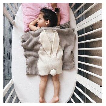 حار الأرنب الطفل البطانيات الوليد لحاف قماط يلتف لينة الدافئة الصوف الحياكة النوم بطانية في التقميط الفراش التصوير