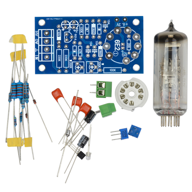 6E2 Tube Preamplifier Audio Board VU Power Level Driver Board Volume Indication Bile Preamp Vacuum Tone Signal Diy Kits