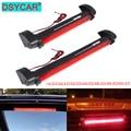 DSYCAR 12V Rot Auto LED Dritte Bremse Lichter Bar Hinten Parkplatz Signal Lampe Lkw High Mount Stopp Warnung Licht universal