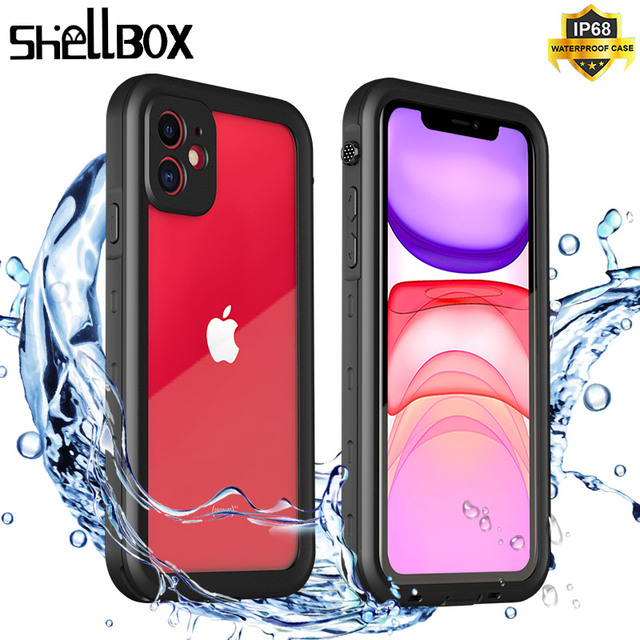 SHELBOX Waterproof Case For iPhone 12 11 Pro Max X XR Shockproof Swimming Coque Cover for iPhone SE 7 8 Plus Underwater Case