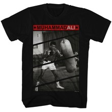 T-Shirts Maten S-3XL Nieuwe Authentieke Mens Muhammad Ali Raakt De Zak T-Shirt(China)