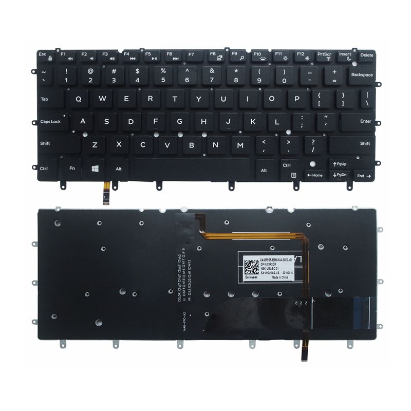 US Backlit Laptop Keyboard For DELL Inspiron XPS 13 7000 7347 7348 7352 7353 7359 15 7547 7548 9343 9350 9360 N7548 Black